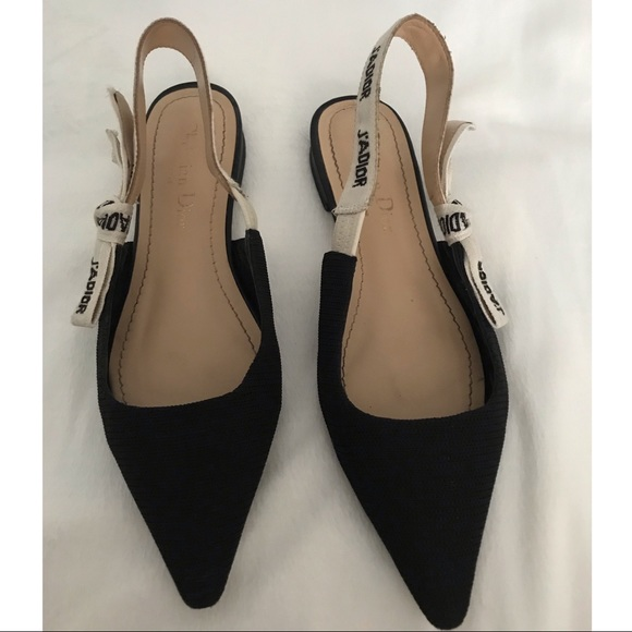 38980352d25 Dior Shoes - J ADIOR BALLERINA IN BLACK TECHNICAL CANVAS